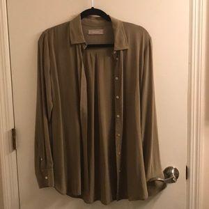 Everlane clean silk relaxed shirt